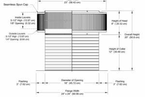 Attic Fan - Aura Fan AF-18-C12-cut-away-and-measurements-cropped