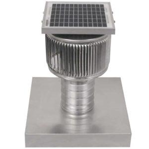 Solar Attic Fan - Aura Solar Fan with Curb Mount Flange ASF-04-C04-CMF-3