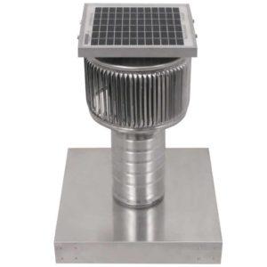 Solar Attic Fan - Aura Solar Fan with Curb Mount Flange ASF-04-C06-CMF-3-1
