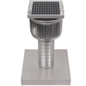 Solar Attic Fan - Aura Solar Fan with Curb Mount Flange ASF-04-C08-CMF-3-1