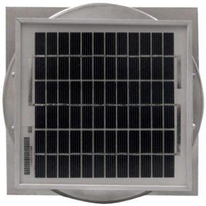 Solar Attic Fan - Aura Solar Fan with Curb Mount Flange ASF-06-C04-CMF-5