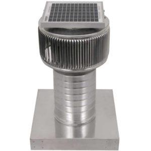 Solar Attic Fan - Aura Solar Fan with Curb Mount Flange ASF-06-C08-CMF-2