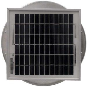 Solar Attic Fan - Aura Solar Fan with Curb Mount Flange ASF-06-C12-CMF-3