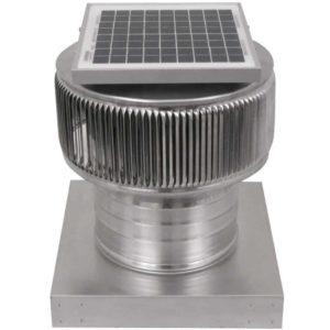 Solar Attic Fan - Aura Solar Fan with Curb Mount Flange ASF-08-C04-CMF-2-1