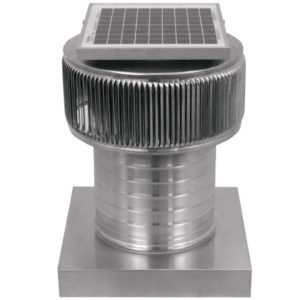 Solar Attic Fan - Aura Solar Fan with Curb Mount Flange ASF-08-C06-CMF-2-1