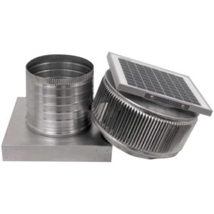 Solar Attic Fan - Aura Solar Fan with Curb Mount Flange ASF-08-C06-CMF-8