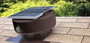 Solar Attic Fan - Aura Solar Fan ASF-12-Brown