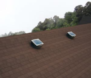 Solar Attic Fan - Aura Solar Fan ASF-12-C2-BROWN