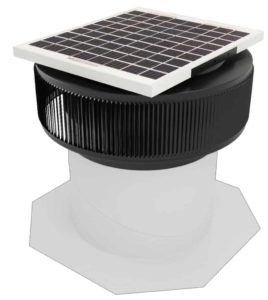 Aura Solar Fan Retrofit Vent Cap ASF-12-RF-BL-on-base