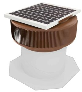 Aura Solar Fan Retrofit Vent Cap ASF-12-RF-BR-on-base
