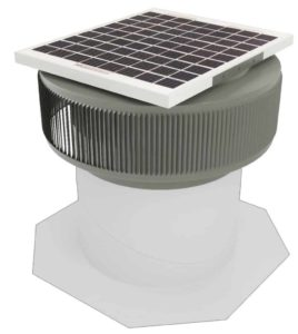Aura Solar Fan Retrofit Vent Cap ASF-12-RF-WD-on-base