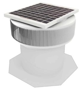 Aura Solar Fan Retrofit Vent Cap ASF-12-RF-WT-on-base