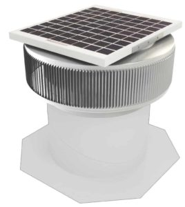 Aura Solar Fan Retrofit Vent Cap ASF-12-RF-on-base