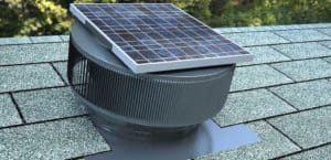 Solar Attic Fan - Aura Solar Fan ASF-12-WeatherWood
