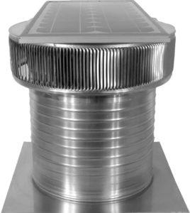 Solar Attic Fan - Aura Solar Fan ASF-14-C12-side-2