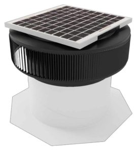 Aura Solar Fan Retrofit Vent Cap ASF-14-RF-BL-on-base
