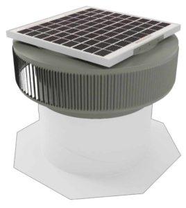 Aura Solar Fan Retrofit Vent Cap ASF-14-RF-WD-on-base