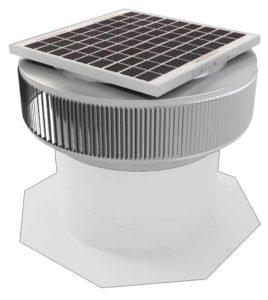 Aura Solar Fan Retrofit Vent Cap ASF-14-RF-on-base
