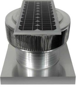Solar Attic Fan - Aura Solar Fan with Curb Mount Flange ASF-16-C06-CMF-specs