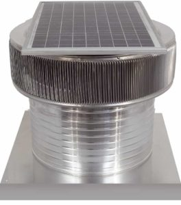 Solar Attic Fan - Aura Solar Fan with Curb Mount Flange ASF-18-C08-CMF-specs