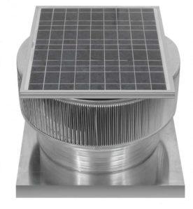 Solar Attic Fan - Aura Solar Fan with Curb Mount Flange ASF-20-C04-CMF-specs
