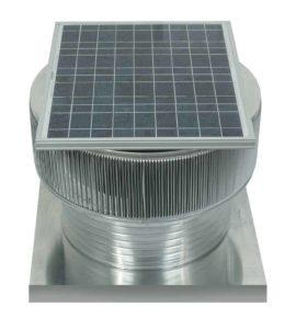 Solar Attic Fan - Aura Solar Fan with Curb Mount Flange ASF-20-C06-CMF-specs