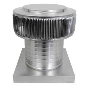 Gravity Ventilator - Aura Vent with Curb Mount Flange AV-10-C08-CMF-2-1
