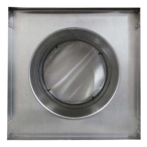 Gravity Ventilator - Aura Vent with Curb Mount Flange AV-10-C08-CMF-4