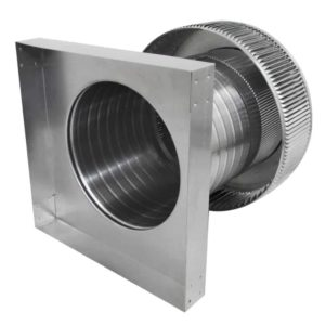 Gravity Ventilator - Aura Vent with Curb Mount Flange AV-10-C08-CMF-7