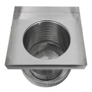 Gravity Ventilator - Aura Vent with Curb Mount Flange AV-10-C08-CMF-9