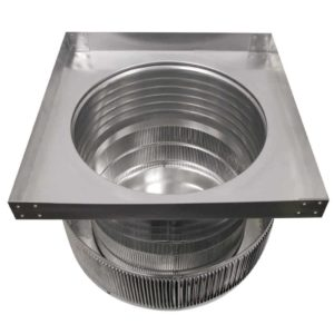 Gravity Ventilator - Aura Vent with Curb Mount Flange AV-16-C06-CMF-10