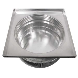 Gravity Ventilator - Aura Vent with Curb Mount Flange AV-24-C04-CMF-9