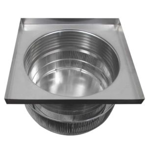 Gravity Ventilator - Aura Vent with Curb Mount Flange AV-24-C06-CMF-8