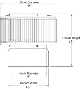 PVC Aura Vent Cap AV-6-PVC-1
