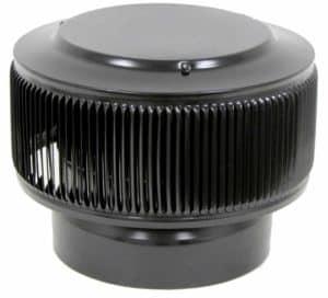 PVC Aura Vent Cap AV-8-PVC-black-angle