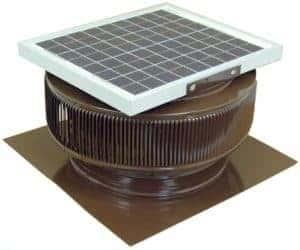 Solar Attic Fan - Aura Solar Fan HD-ASF-14-C2-BR