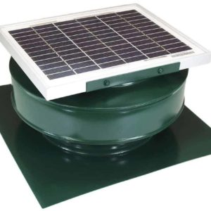 Round Back Solar Roof Exhaust Fan