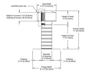 Attic Vent - Keepa Vent KV-03-C07-cutaway-and-measurements-e1525791681800