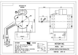 Aura Fan Motor MTR-14-Drawing
