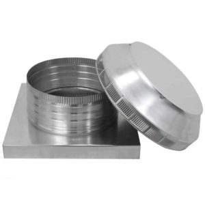 Roof Louver for Air Intake - Pop Vent with Curb Mount Flange PV-12-C04-CMF-15