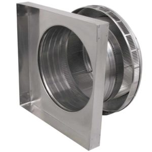 Roof Louver for Air Intake - Pop Vent with Curb Mount Flange PV-12-C04-CMF-7