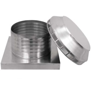 Roof Louver for Air Intake - Pop Vent with Curb Mount Flange PV-12-C06-CMF-13