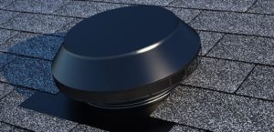 Roof Louver - Pop Vent for Exhaust PV-12-C1-Black