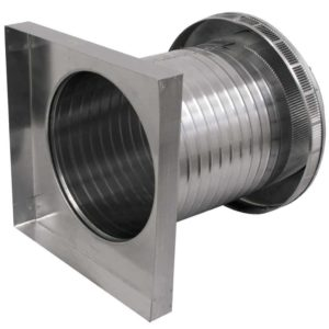 Roof Louver for Air Intake - Pop Vent with Curb Mount Flange PV-12-C12-CMF-5