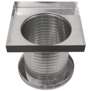 Roof Louver for Air Intake - Pop Vent with Curb Mount Flange PV-12-C12-CMF-9