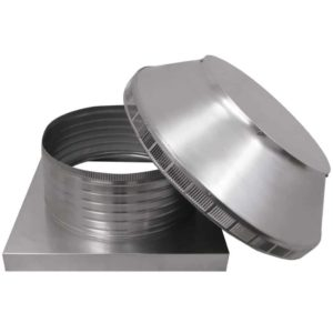 Roof Louver for Air Intake - Pop Vent with Curb Mount Flange PV-16-C06-CMF-10