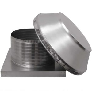 Roof Louver for Air Intake - Pop Vent with Curb Mount Flange PV-16-C08-CMF-10