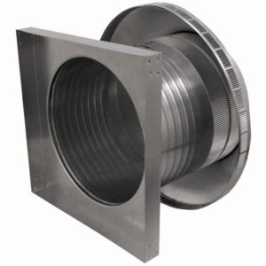 Roof Louver for Air Intake - Pop Vent with Curb Mount Flange PV-16-C08-CMF-7