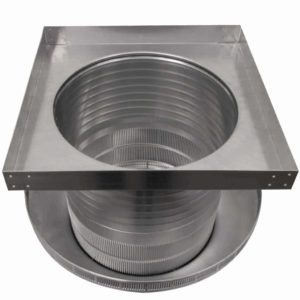 Roof Louver for Air Intake - Pop Vent with Curb Mount Flange PV-16-C08-CMF-9