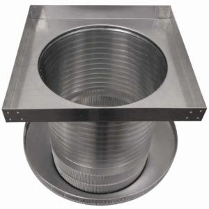 Roof Louver for Air Intake - Pop Vent with Curb Mount Flange PV-16-C12-CMF-11